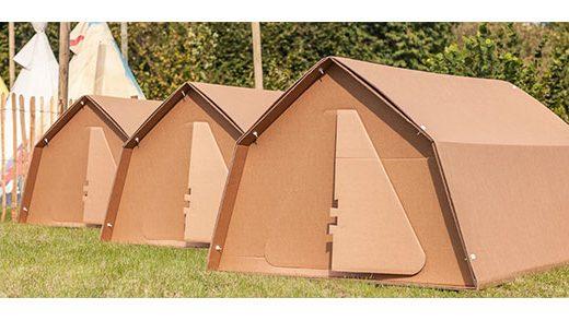 100%リサイクル可能なダンボール テント