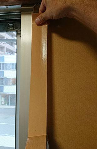 窓 ガラス 補強 ダンボール